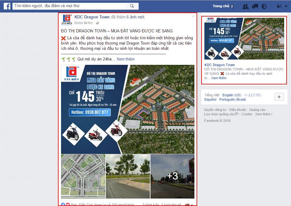 Chạy quảng cáo Fanpage cho bất động sản