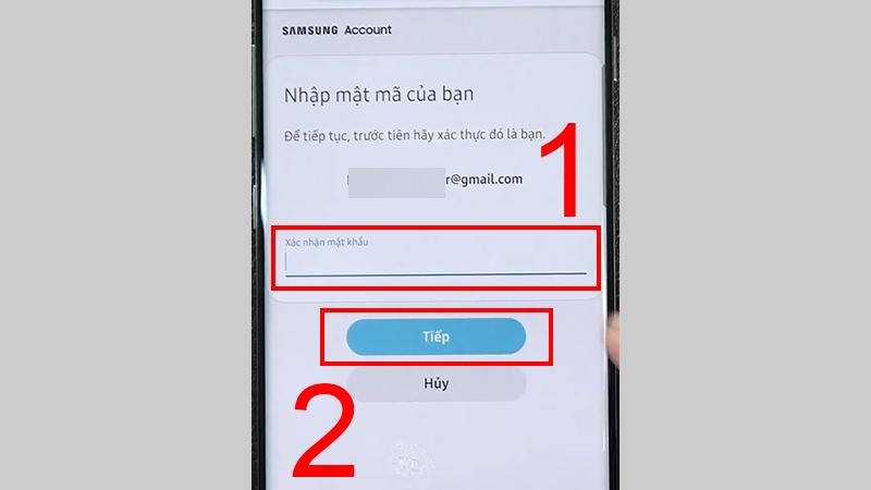 Nhập mật khẩu xác thực
