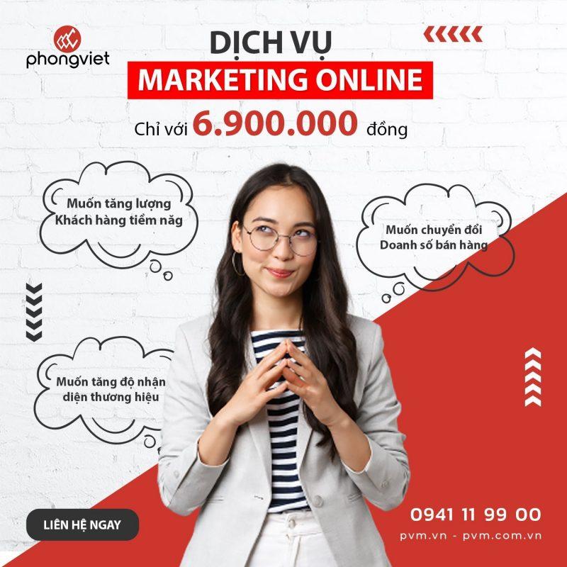 Marketing Online trọn gói tại Phong Việt gồm những dịch vụ nào?